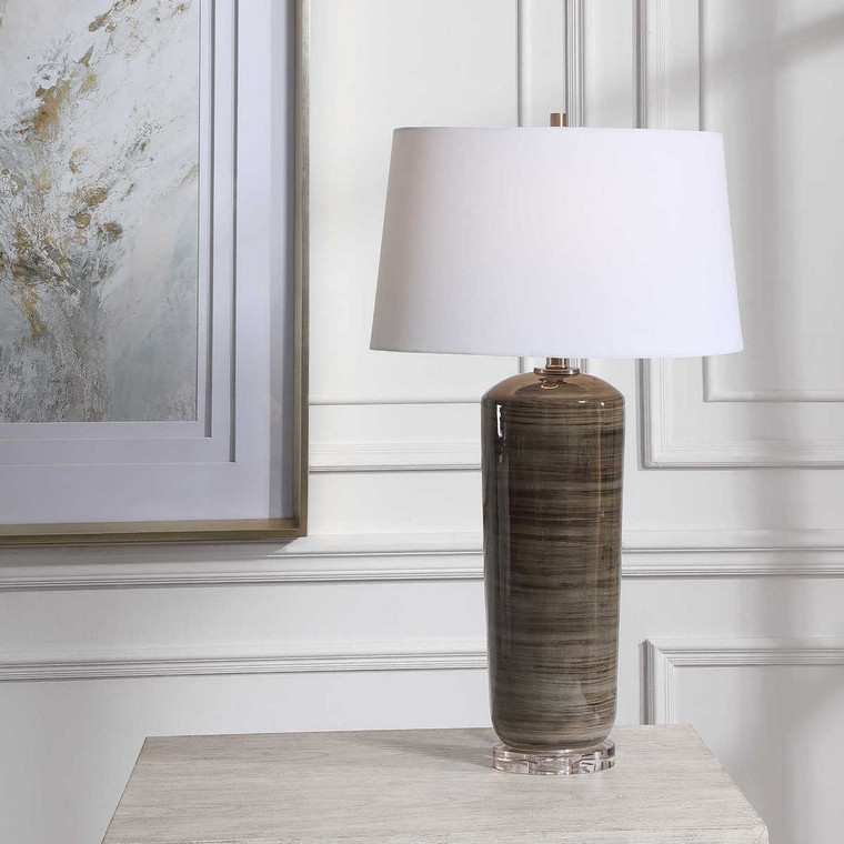 Ebon Table Lamp - Size: 79H x 46W x 28D (cm)