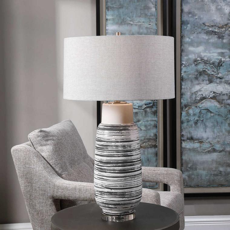 Magellan Ivory Table Lamp - Size: 81H x 48W x 48D (cm)