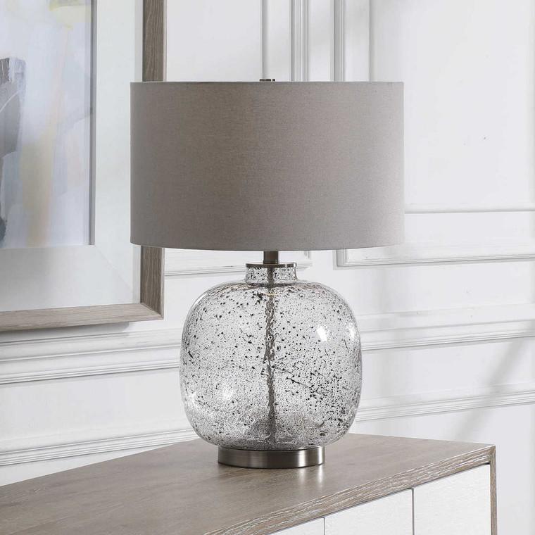 Storm Glass Table Lamp - Size: 59H x 43W x 43D (cm)