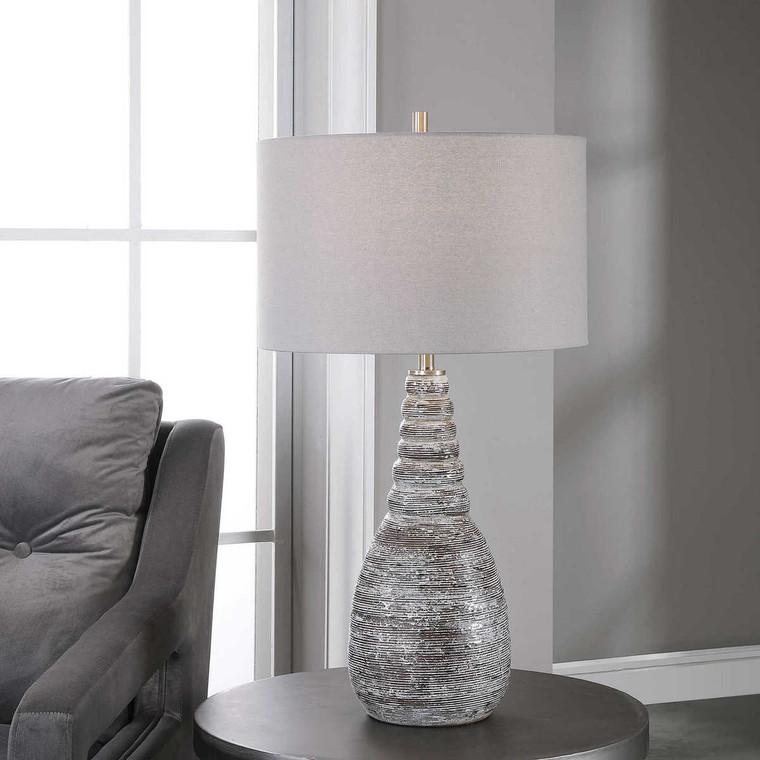 Arapahoe Rust Brown Table Lamp - Size: 74H x 41W x 41D (cm)