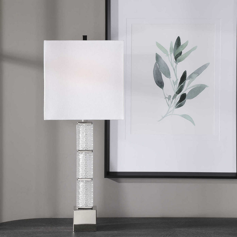 Dunmore Glass Table Lamp - Size: 84H x 33W x 23D (cm)