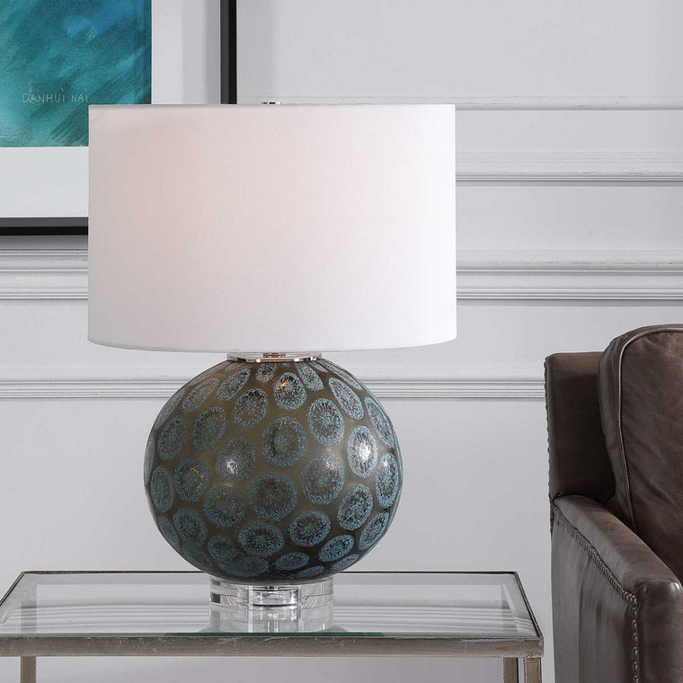 Agate Slice Table Lamp - Size: 57H x 43W x 43D (cm)