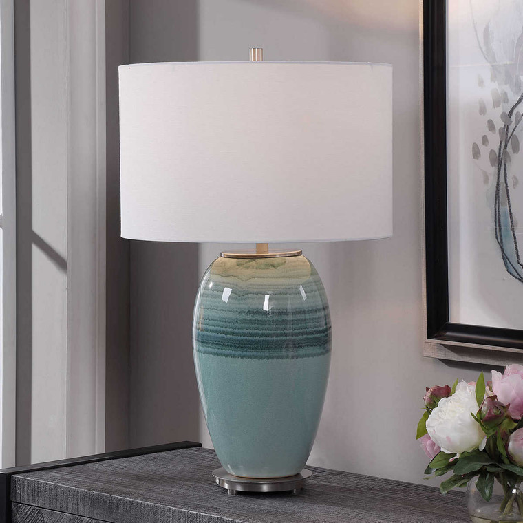 Caicos Table Lamp - Size: 67H x 41W x 41D (cm)