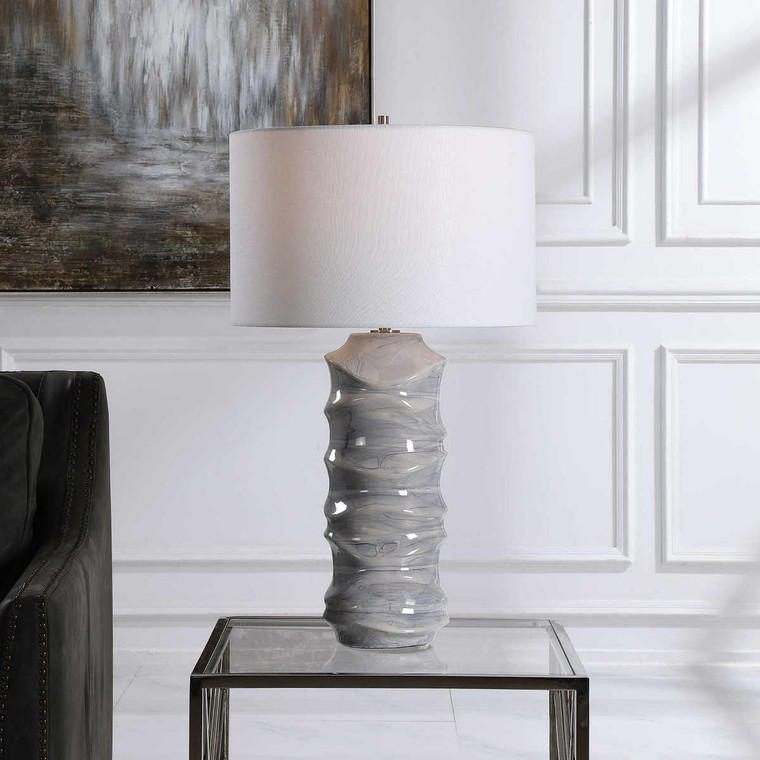Waves Table Lamp - Size: 70H x 41W x 41D (cm)