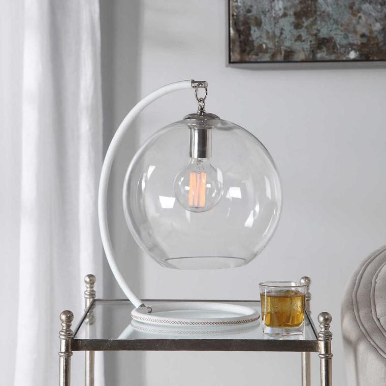 Eissa White Accent Lamp - Size: 44H x 39W x 27D (cm)