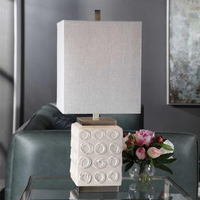 Emeline White Accent Lamp - Size: 73H x 30W x 30D (cm)