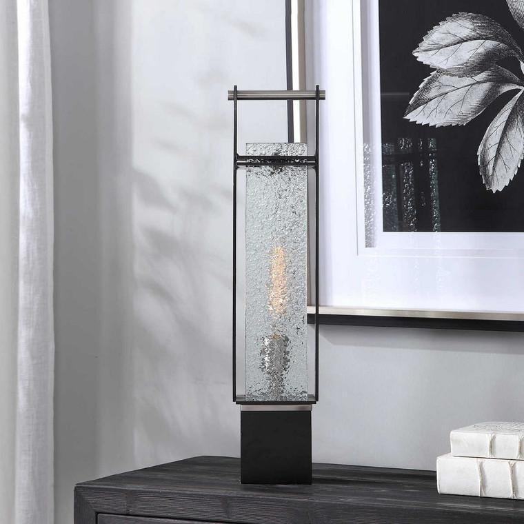 Abiel Industrial Accent Lamp - Size: 62H x 16W x 14D (cm)