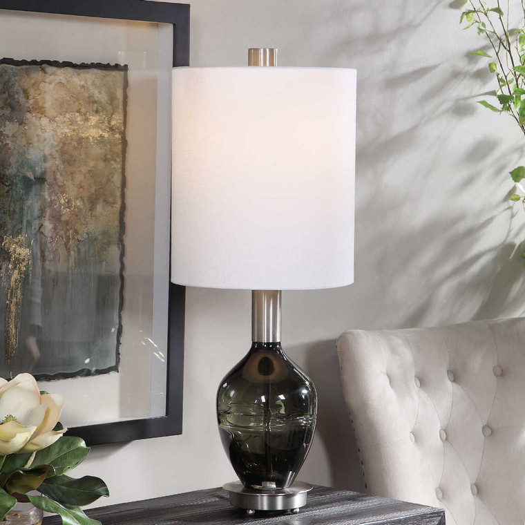 Aderia Sage Green Accent Lamp - Size: 77H x 30W x 30D (cm)