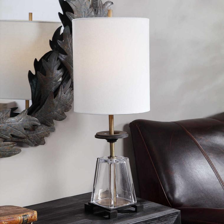 Hancock Glass Accent Lamp - Size: 67H x 25W x 25D (cm)