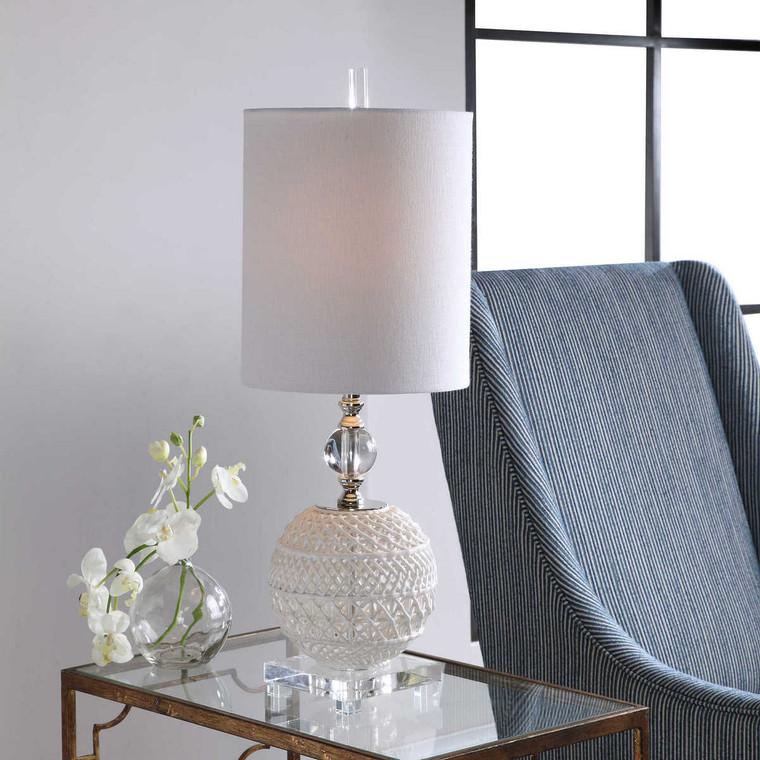 Mazarine Open Ceramic Buffet Lamp - Size: 71H x 25W x 25D (cm)