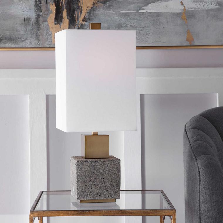 Auckland Granite Buffet Lamp - Size: 64H x 25W x 25D (cm)
