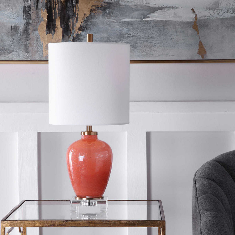 Dominica Coral Accent Lamp - Size: 57H x 25W x 25D (cm)