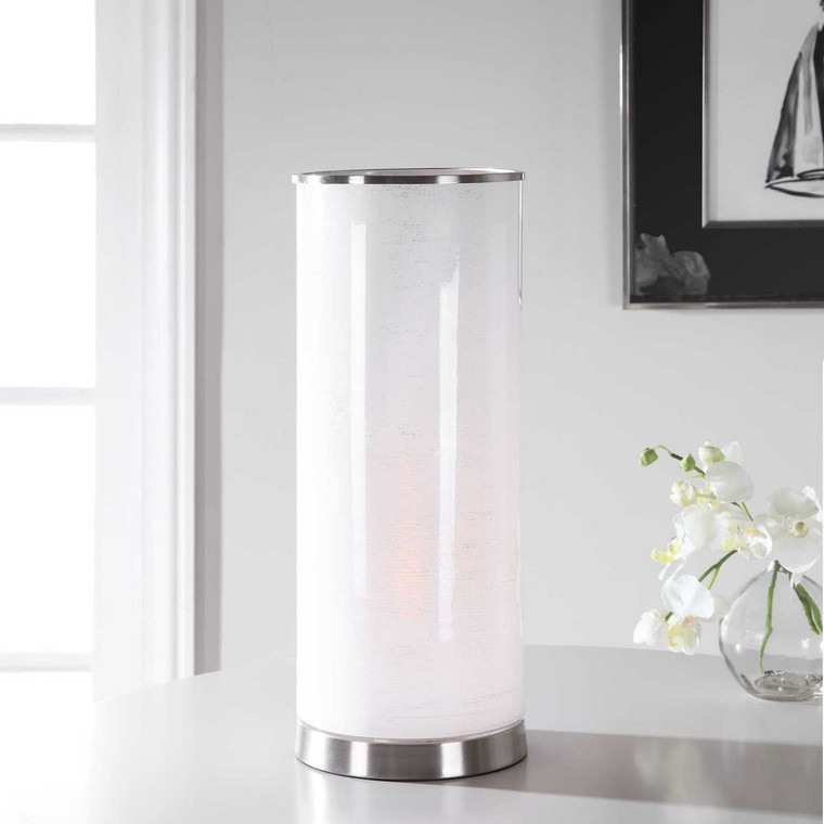 Centra White Accent Lamp - Size: 51H x 20W x 20D (cm)