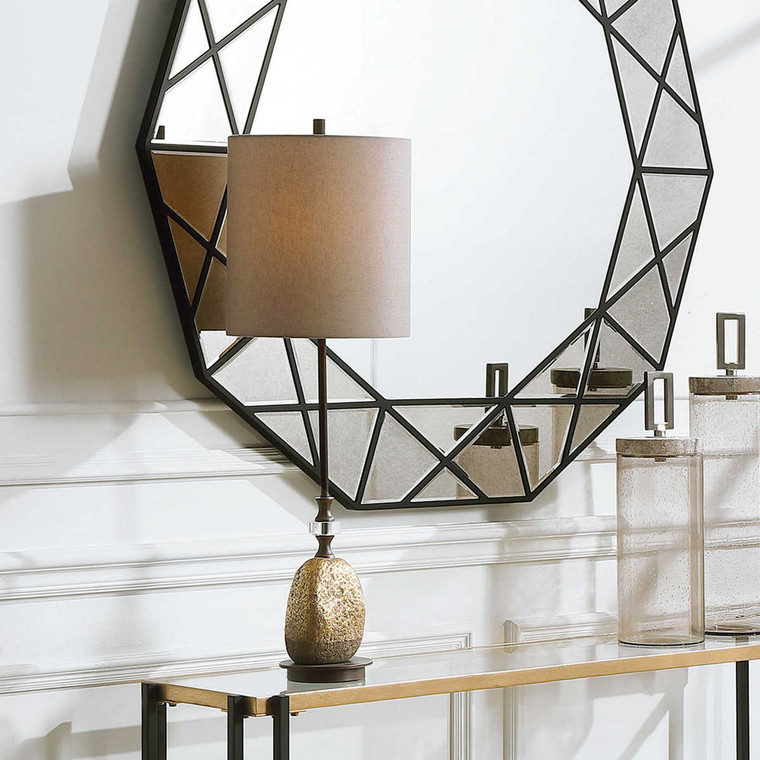 Aurum Gold Buffet Lamp - Size: 86H x 28W x 28D (cm)
