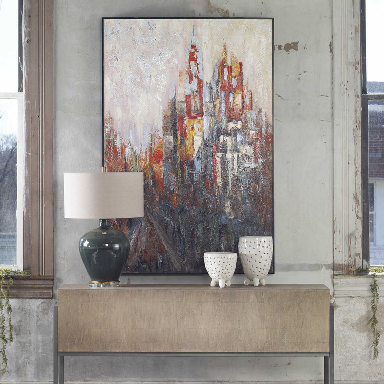 Concrete Jungle Hand Painted Canvas - Size: 154H x 104W x 5D (cm)