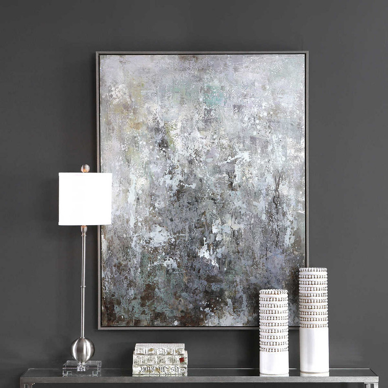 Sea Mist Hand Painted Canvas - Size: 125H x 95W x 5D (cm)