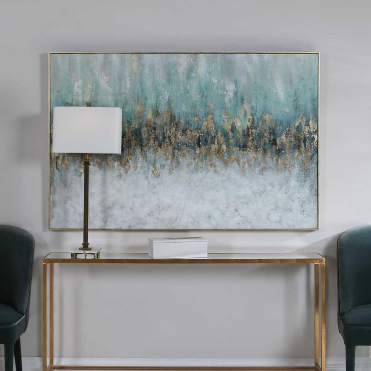 Divide Hand Painted Art - Size: 104H x 155W x 6D (cm)