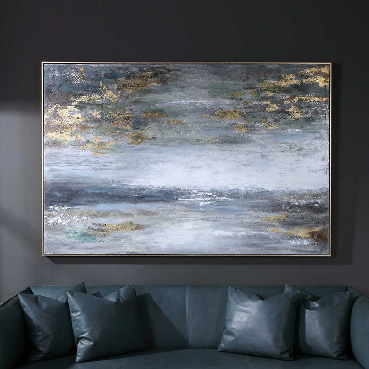 Dawn To Dusk Hand Painted Art - Size: 124H x 185W x 6D (cm)