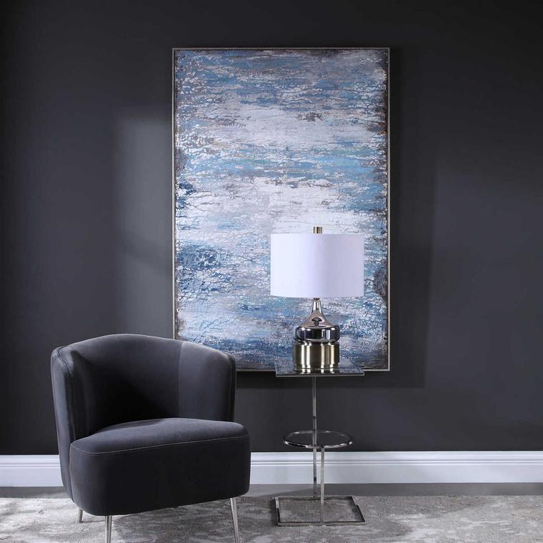 Modern Composition Hand Painted Art - Size: 155H x 104W x 6D (cm)