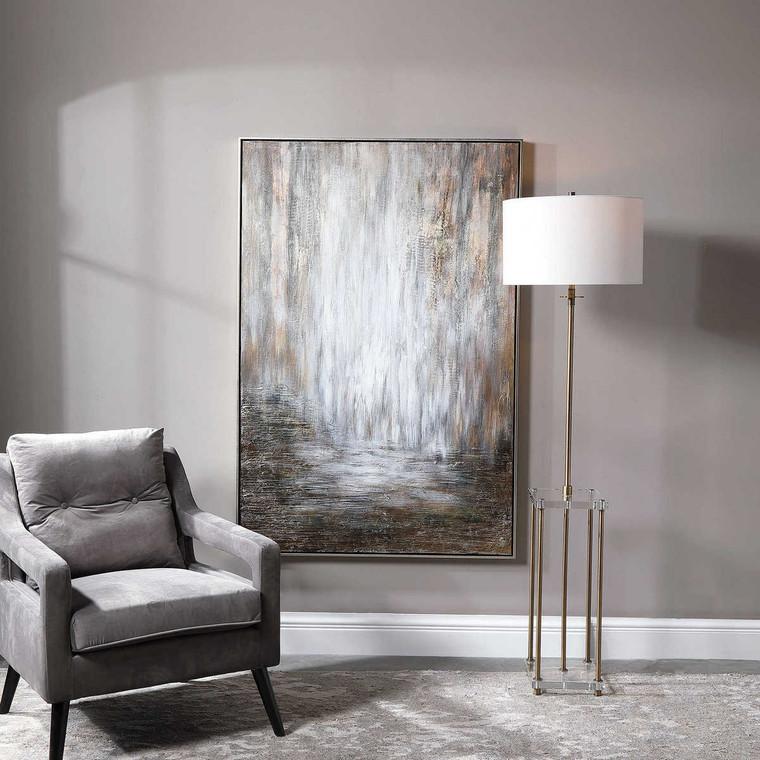 Desert Rain Hand Painted Abstract Art - Size: 156H x 105W x 6D (cm)