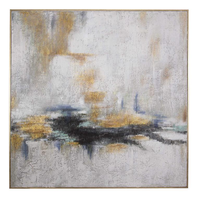 Eclipse Hand Painted Canvas - Size: 129H x 129W x 6D (cm)