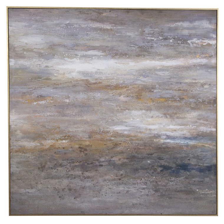 Retrograde Hand Painted Canvas - Size: 129H x 129W x 6D (cm)
