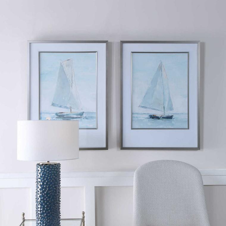 Seafaring Framed Prints Set/2 - Size: 87H x 64W x 4D (cm)