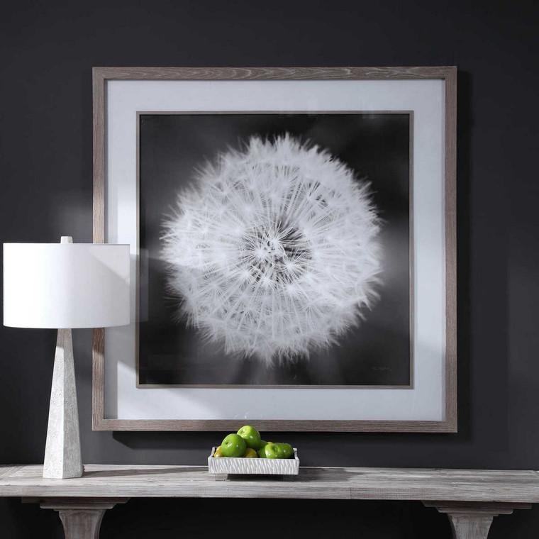 Dandelion Seedhead Framed Print - Size: 137H x 137W x 8D (cm)