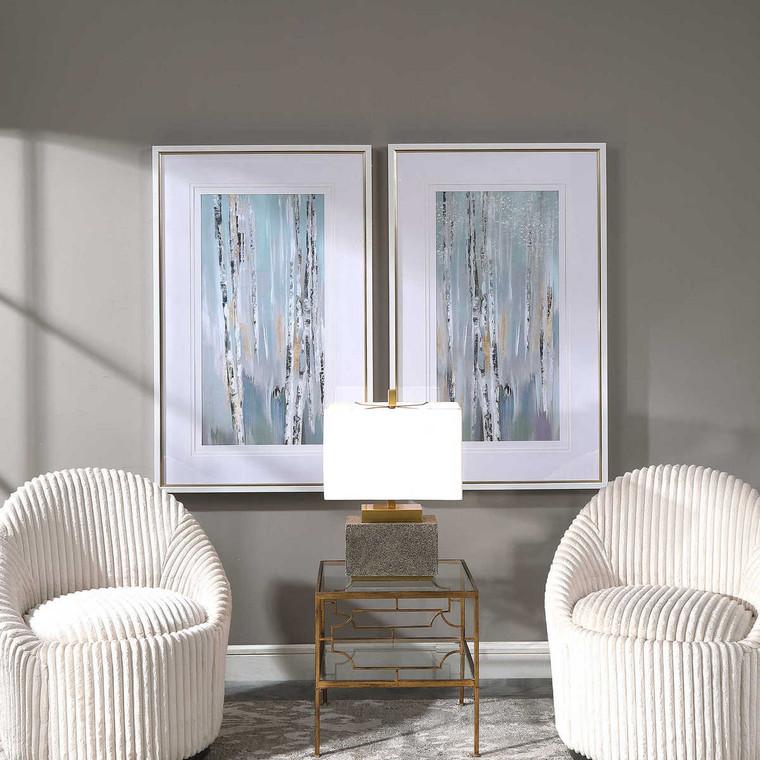 Pandora's Forest Abstract Art Set/2 - Size: 123H x 78W x 6D (cm)