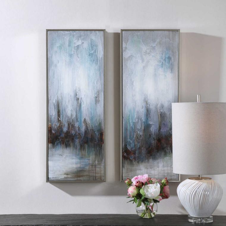 Rainy Days Abstract Art Set/2 - Size: 83H x 33W x 5D (cm)
