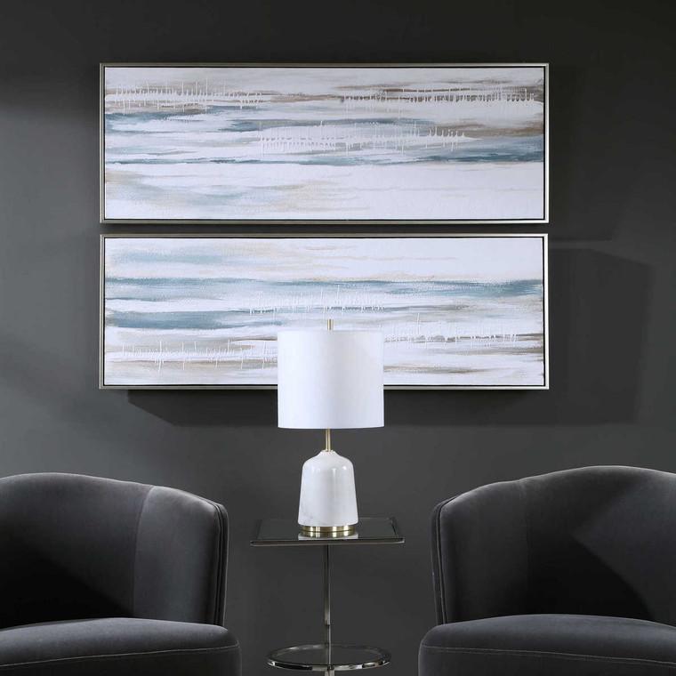 Drifting Abstract Landscape Art Set/2 - Size: 123H x 43W x 6D (cm)