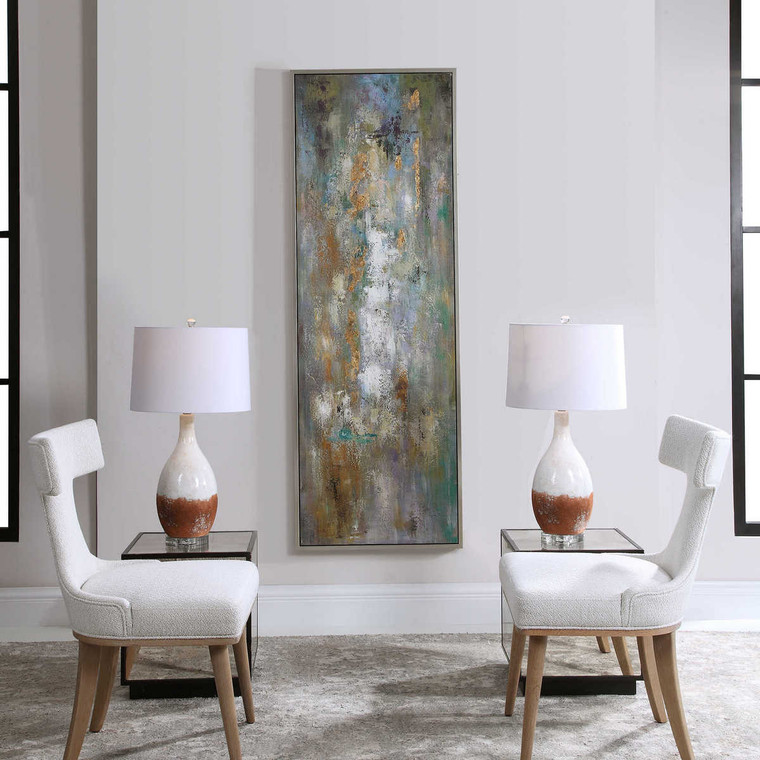 Enigma Hand Painted Abstract Art - Size: 187H x 65W x 4D (cm)
