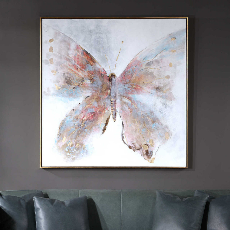 Free Flying Hand Painted Canvas - Size: 130H x 130W x 4D (cm)