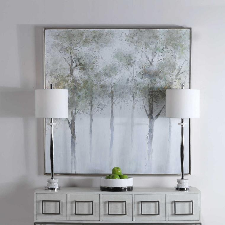 Calm Forest Landscape Art - Size: 130H x 130W x 4D (cm)