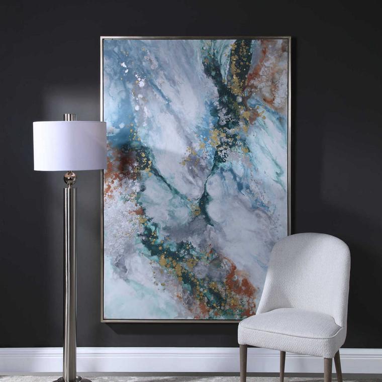 Mercury Hand Abstract Art - Size: 187H x 126W x 4D (cm)