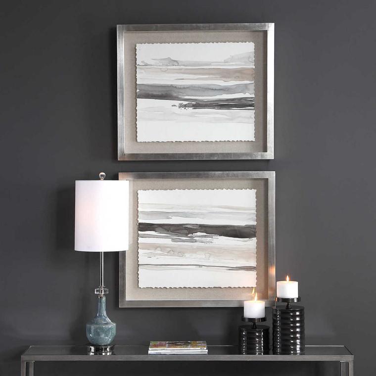 Neutral Landscape Framed Prints Set/2 - Size: 75H x 65W x 6D (cm)