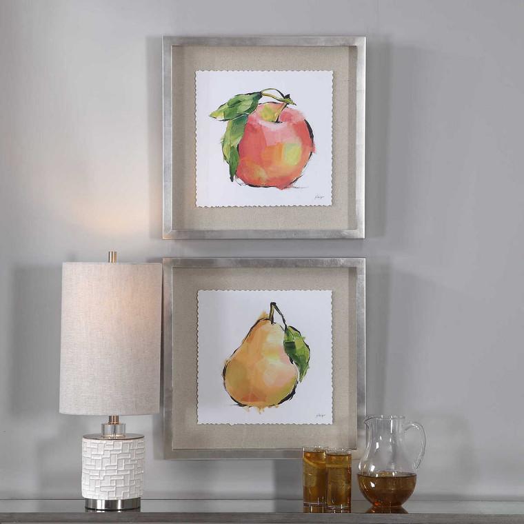 Designer Fruits Framed Prints Set/2 - Size: 54H x 54W x 5D (cm)