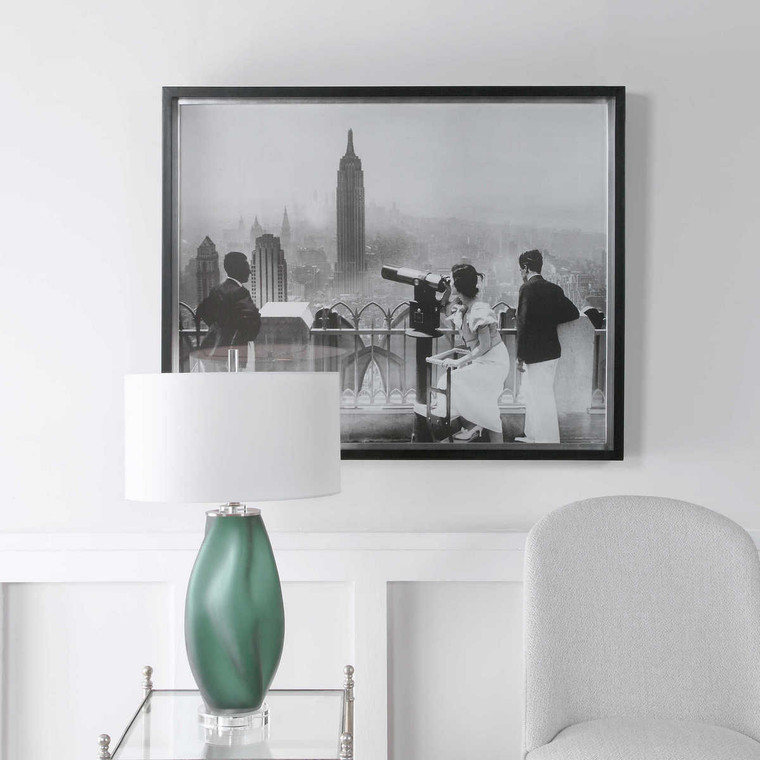 Manhattan View Vintage Print - Size: 88H x 109W x 8D (cm)