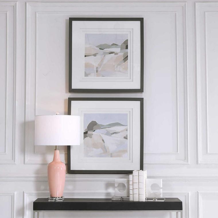 Western Landscape Modern Prints Set/2 - Size: 76H x 76W x 5D (cm)