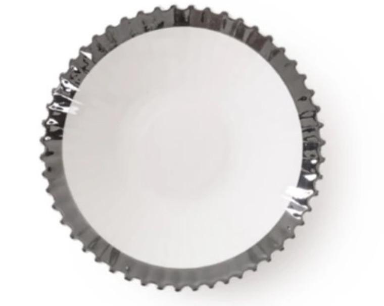 Soup Plate - Machine - Silver
