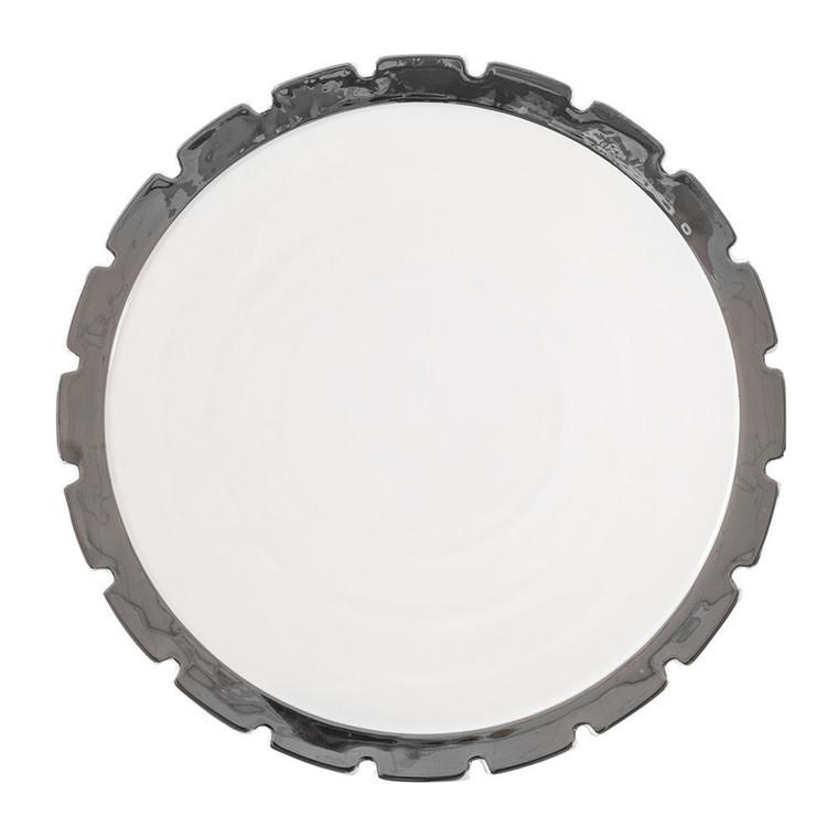Dinner Plate - Machine - Silver