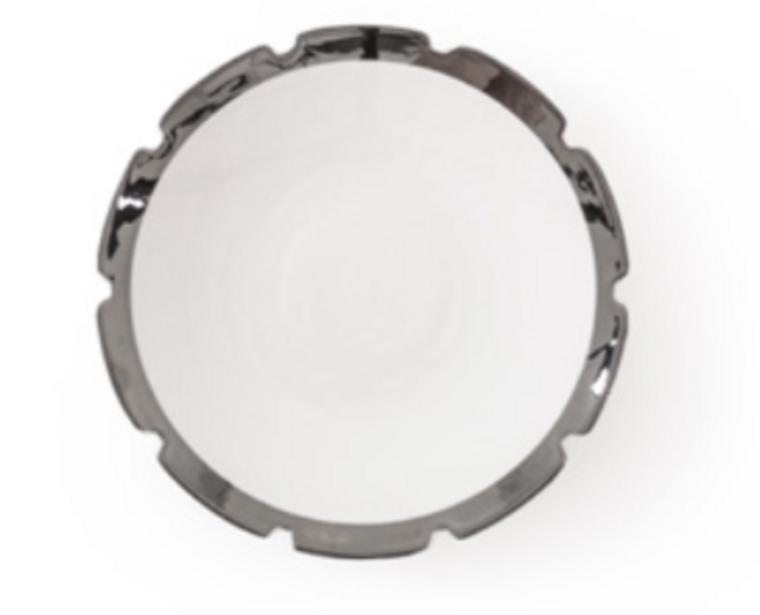 Dessert Plate - Machine - Silver