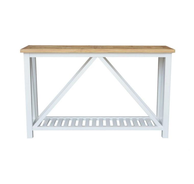 Positano Parquet Console Table White