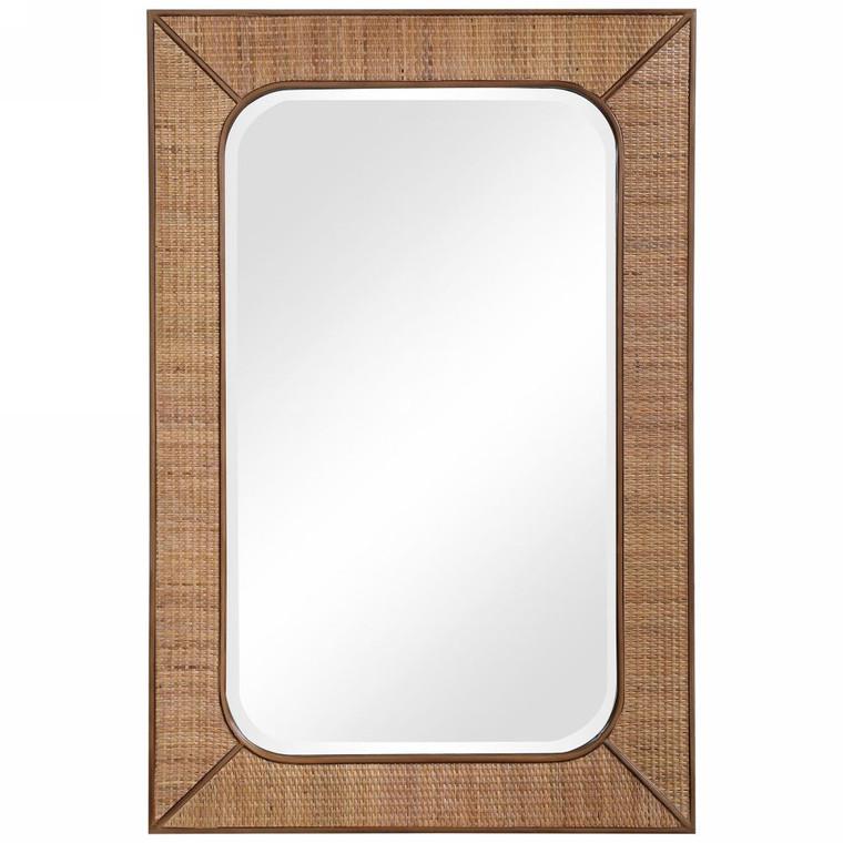 Tahiti Rattan Mirror - Size: 107H x 71W x 3D (cm)