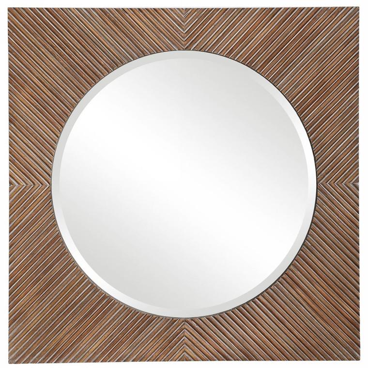 Uma Wooden Square Mirror - Size: 76H x 76W x 4D (cm)