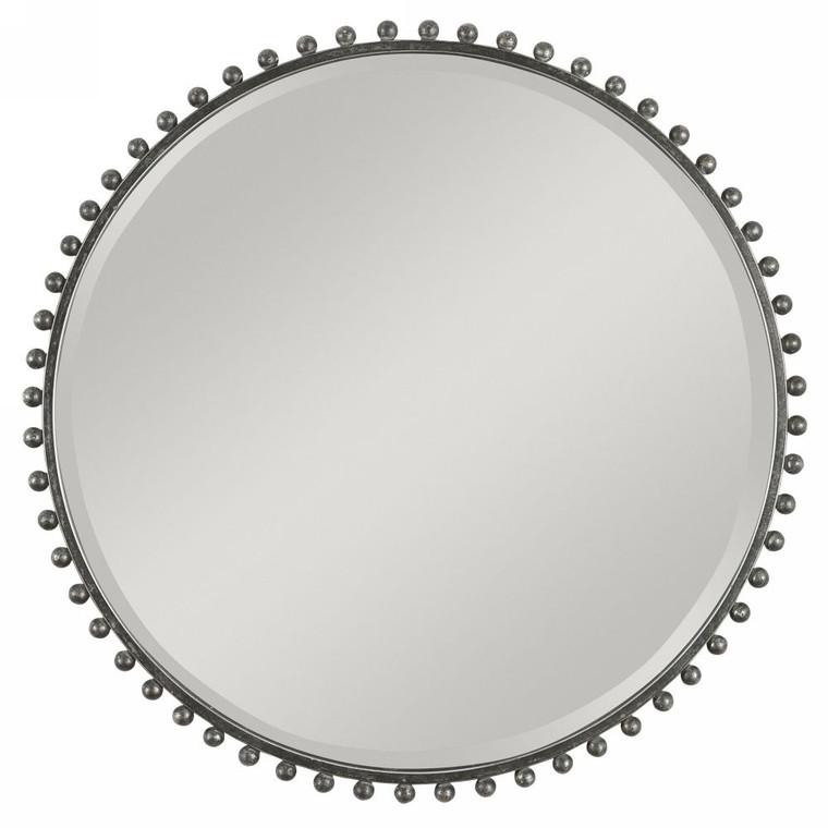 Taza Round Iron Mirror - Size: 81H x 81W x 3D (cm)