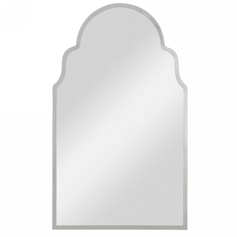 Brayden Nickel Arch Mirror - Size: 108H x 65W x 3D (cm)