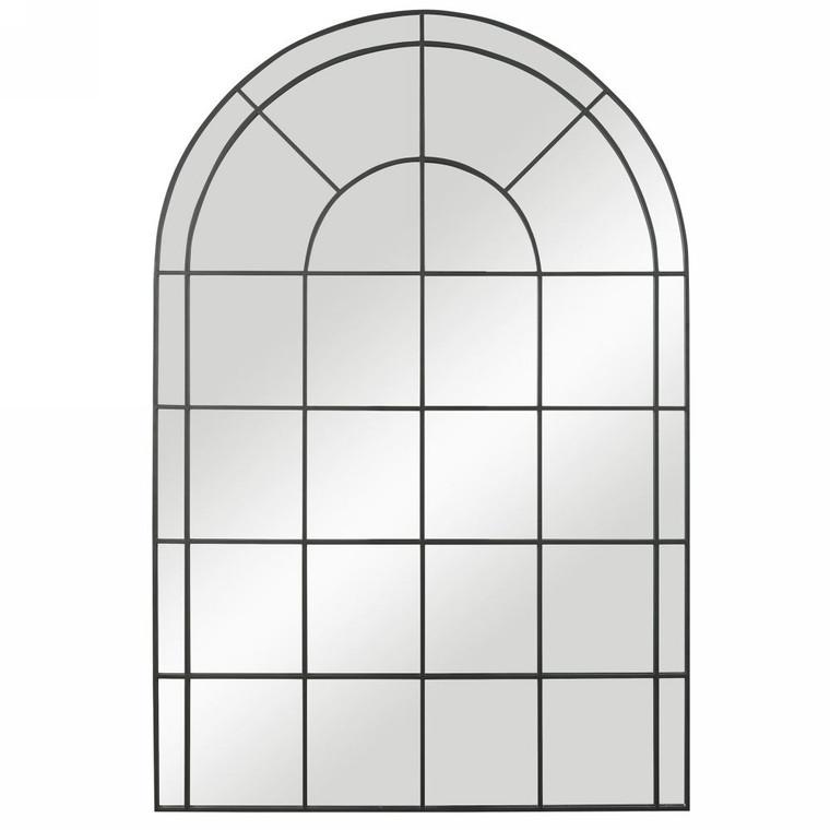 Grantola Black Arch Iron Mirror - Size: 182H x 121W x 2D (cm)
