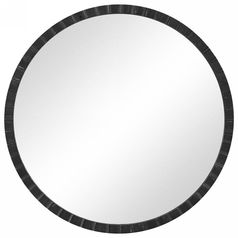 Dandridge Round Industrial Mirror - Size: 86H x 86W x 3D (cm)