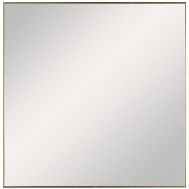 Alexo Gold Square Mirror - Size: 71H x 71W x 3D (cm)